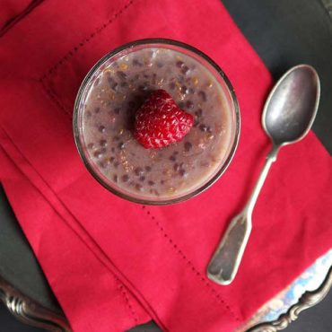 Raspberry White Chocolate Paleo and Vegan Tapioca Pudding {Gluten-Free}