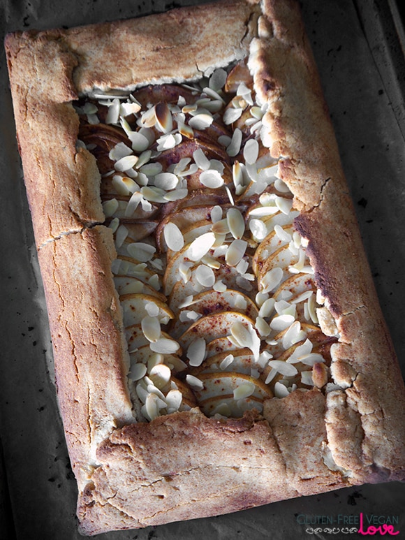 Paleo and Gluten-Free Vegan Rustic Pear Galette {AIP-Friendly, Refined Sugar-Free}