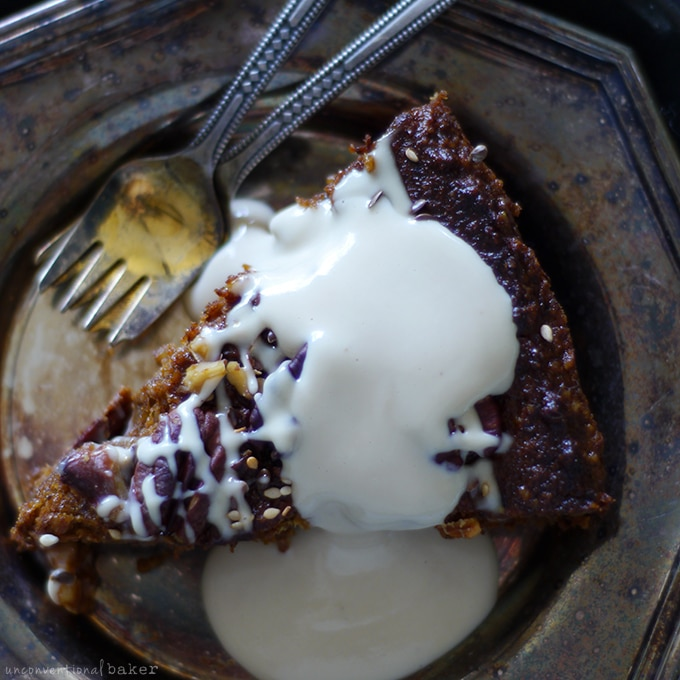 Nutty-Pumpkin-Pecan-Cake-with-a-'Cream-Cheese'-Topping-{Free-from--gluten,-grains,-dairy,-eggs,-and-refined-sugar}-recipe