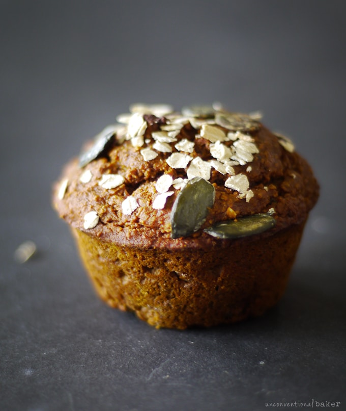 Pumpkin Molasses Muffins (Free from: gluten, dairy, eggs, refined sugars, nuts, gums, and oil)