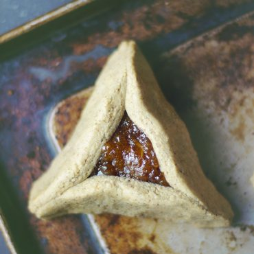 Apricot Hamantaschen Cookies (Free from: gluten, dairy, eggs, refined sugar, nuts, and gums)