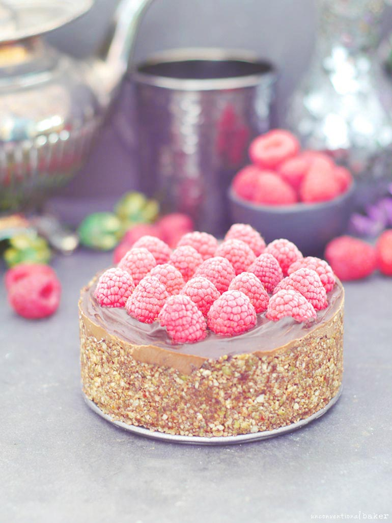 Raw Chocolate Mousse Cake l Unconventional Baker