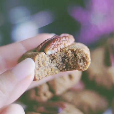 Pecan Cookies (Free From: gluten, dairy, eggs, added oils, refined sugar)