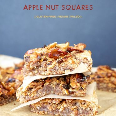 Gluten-Free Vegan Caramelized Apple Nut Squares {also Paleo & Refined Sugar-Free}