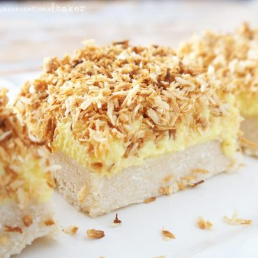 Gluten-Free Vegan Lemon Coconut Squares {Refined Sugar-Free and Paleo}