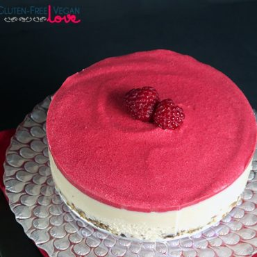 Heavenly Raw Vegan White Chocolate and Raspberry Cheesecake {Gluten-Free, Paleo}