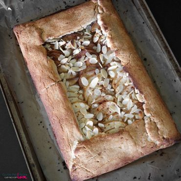 Paleo and Gluten-Free Vegan Rustic Pear Galette {AIP, Refined Sugar-Free}