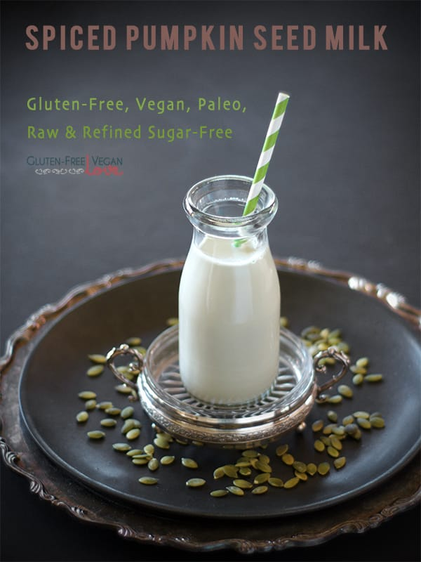 DIY Spiced Pumpkin Seed Milk -- 2 Ways {Gluten-Free, Vegan, Paleo, Raw, Refined Sugar-Free}