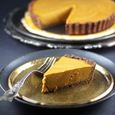Gluten-Free, Vegan, and Paleo Carob Pumpkin Tart Recipe {AIP-Friendly, Refined Sugar-Free}
