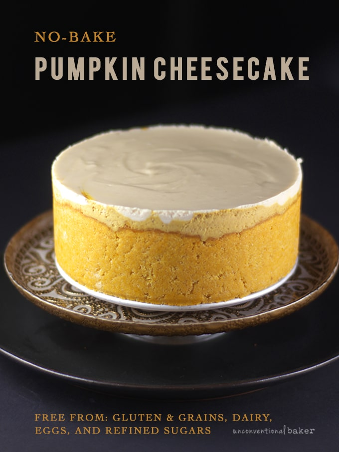 No-Bake Pumpkin Cheesecake {Free From: gluten & grains, dairy, eggs, and refined sugars}
