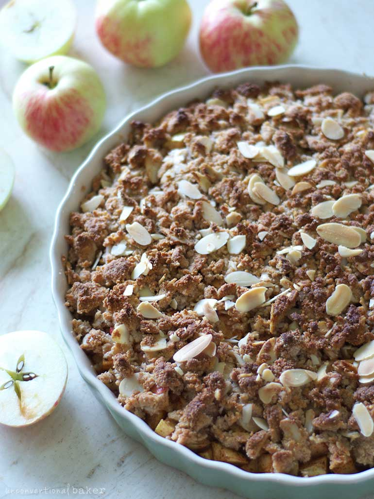 vegan and gf apple crisp