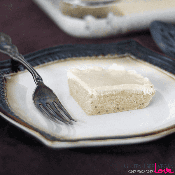 Gluten-Free Vegan White Texas Sheet Cake {Refined Sugar-Free}