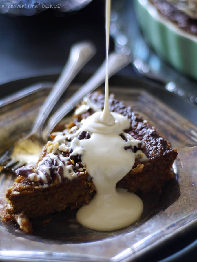 "Nutty Pumpkin Pecan Cake with a ""Cream Cheese"" Topping {Free from: gluten, grains, dairy, eggs, and refined sugar}"