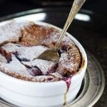 Unconventional Plum Clafoutis {Free from: dairy, eggs, gluten, and refined sugars}