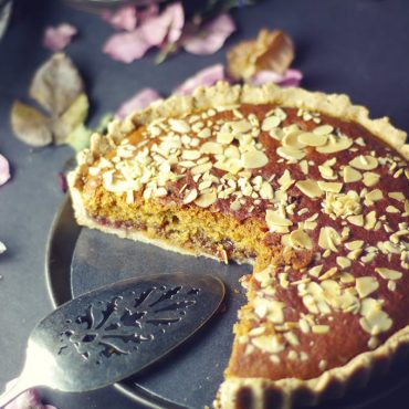 Trinity's Bakewell Tart {Free from: Gluten, Dairy, Eggs, and Refined Sugars}