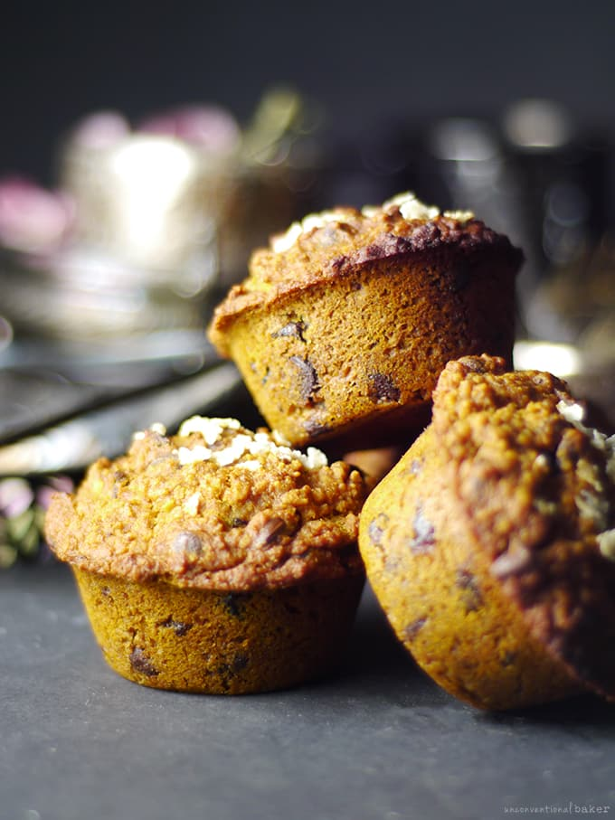 Cranberry Chocolate Chip Pumpkin Spice Muffins