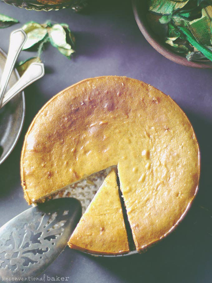 Easy Baked Cheesecake (Without the Dairy, Eggs, Oil, Soy, Refined Sugar, Grains or Gluten)