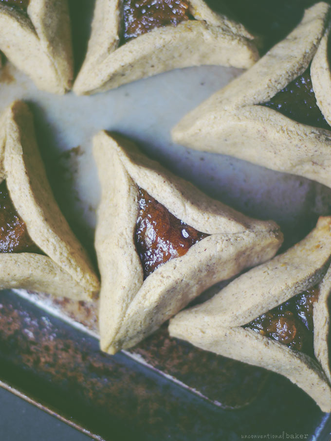 Apricot Hamantaschen Cookies (Free from: gluten, dairy, eggs, refined sugar, oils, nuts, and gums)