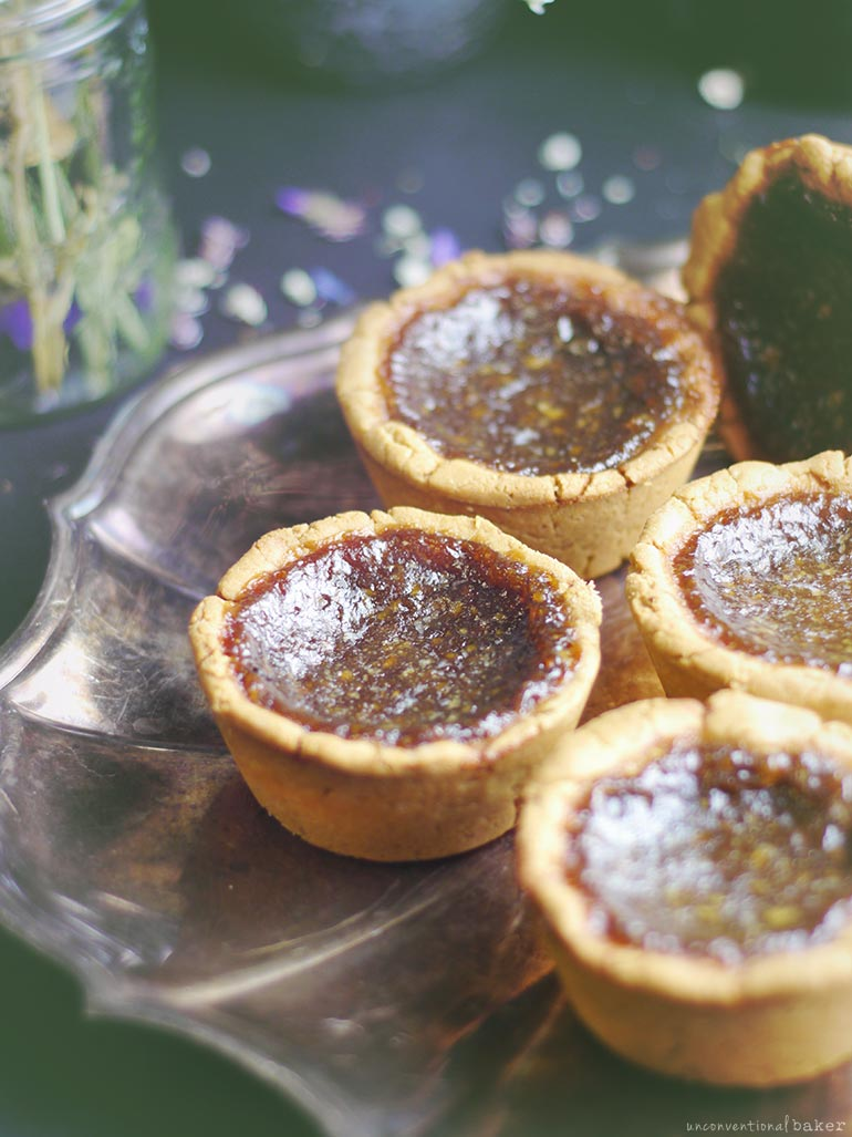 Vegan Butter Tarts (gluten-free and refined sugar-free)