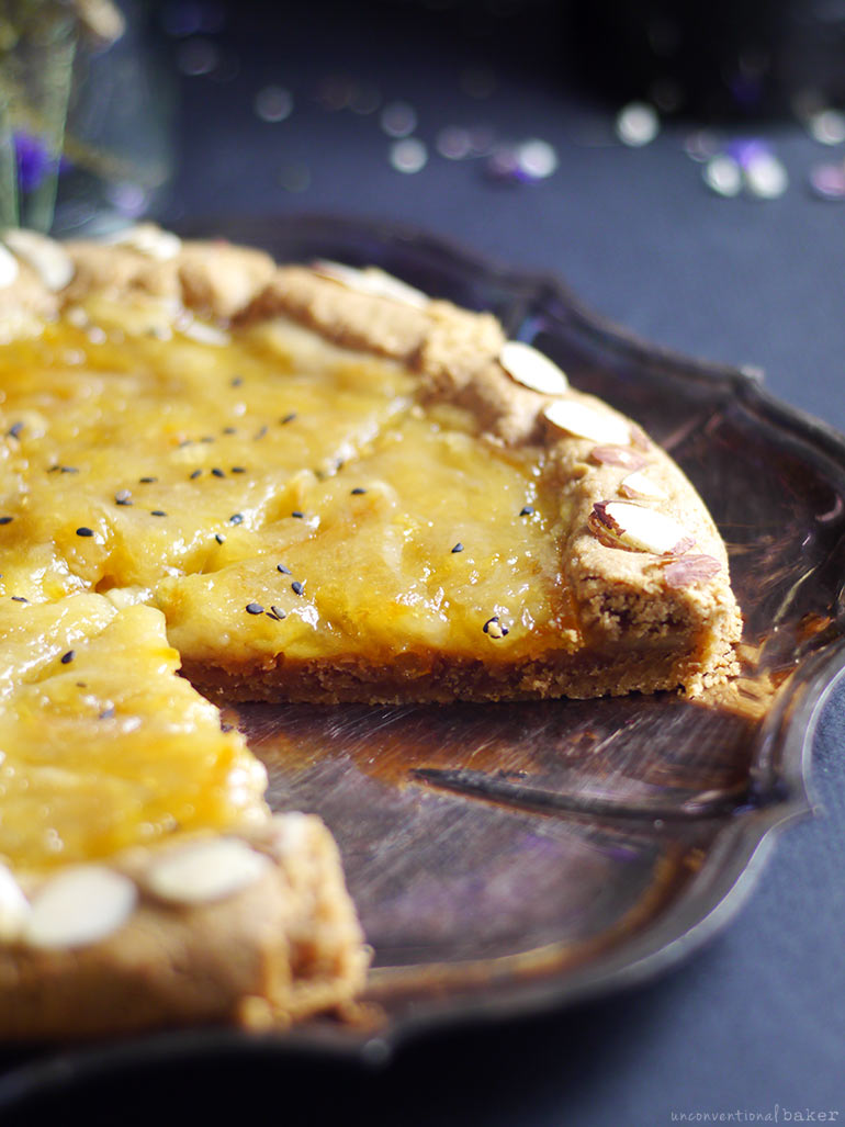Orange Marmalade Galette (Free from: dairy, gluten, eggs, and refined sugar)