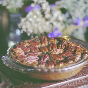Maple Pecan Pie (Free From: gluten, dairy, eggs, corn, added oils, and refined sugar)