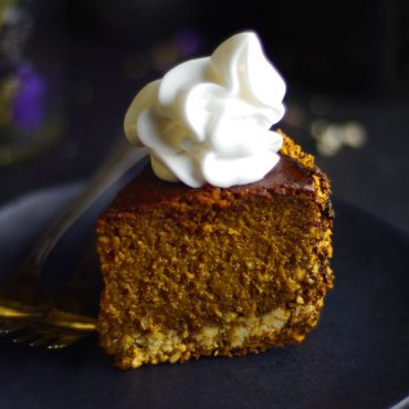 Baked Pumpkin Cheesecake (Free From: dairy, gluten & grains, added oils, refined sugar)