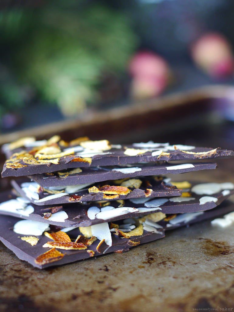 Dark Chocolate with Orange Peel (Free From: Dairy, Refined Sugar, Gluten & Grains, w/ Nut-Free Option)