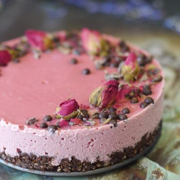 Raw Chocolate Beet Cheesecake (Free From: gluten & grains, dairy, eggs, and refined sugar)