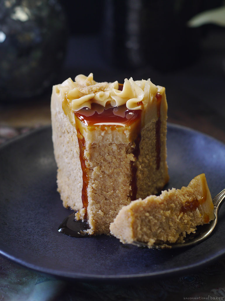 Caramel Coconut Cake (No-Bake & made entirely from coconut - top to bottom)