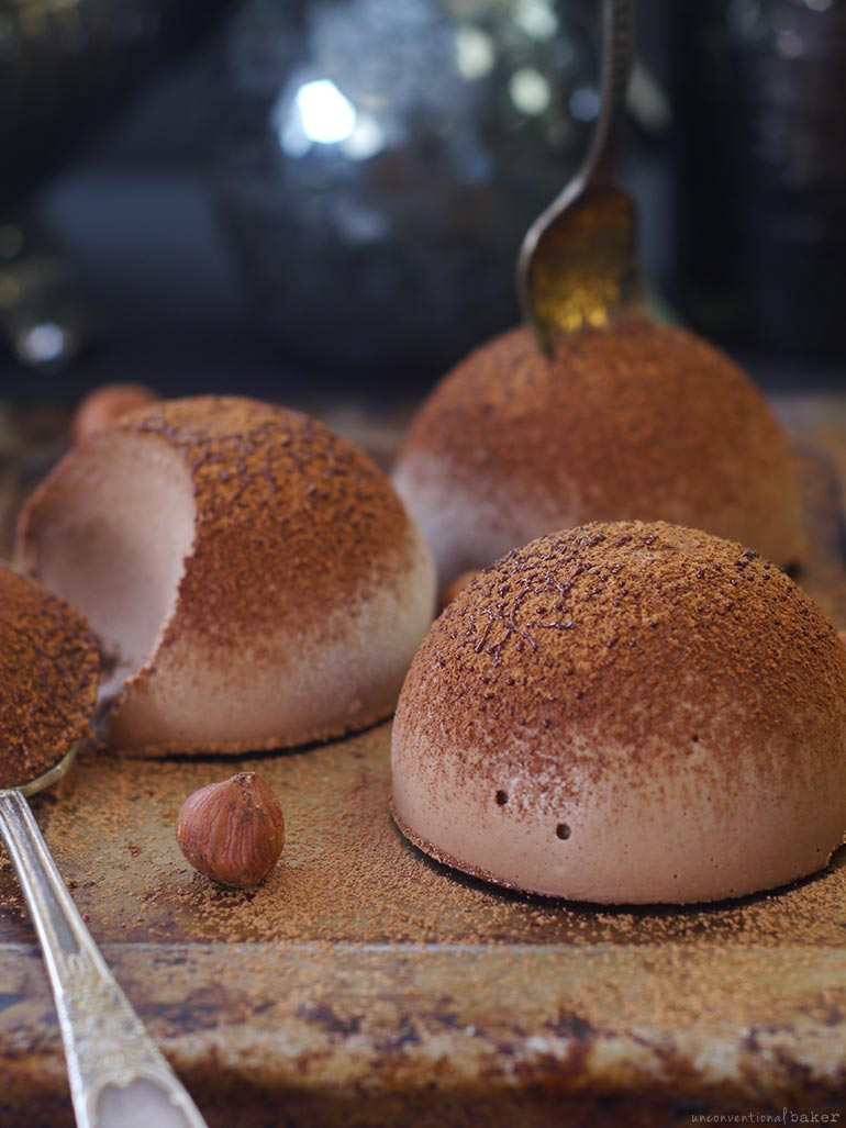 a classic tartufo remade without milk or sugar (veganized)