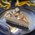 raw orange caramel tart -- gluten & grain-free, vegan, refined sugar-free