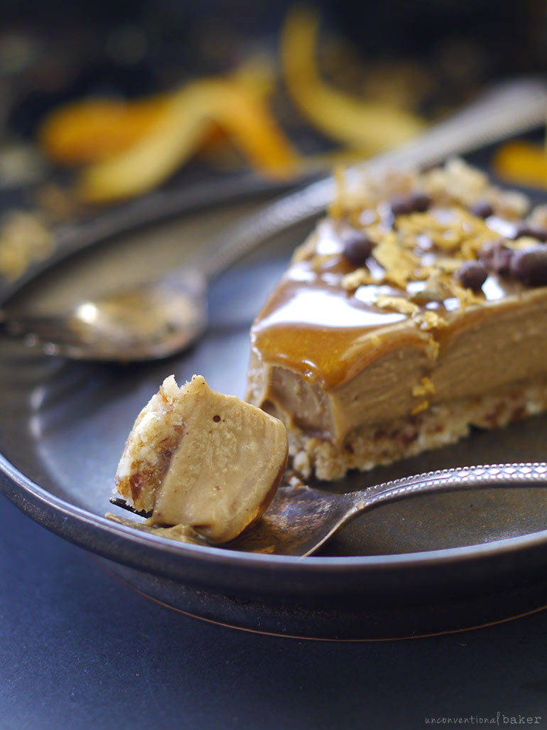 raw vegan orange caramel tart recipe (dairy-free, gluten-free, grain-free)