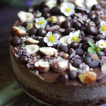raw vegan chocolate hazelnut cake