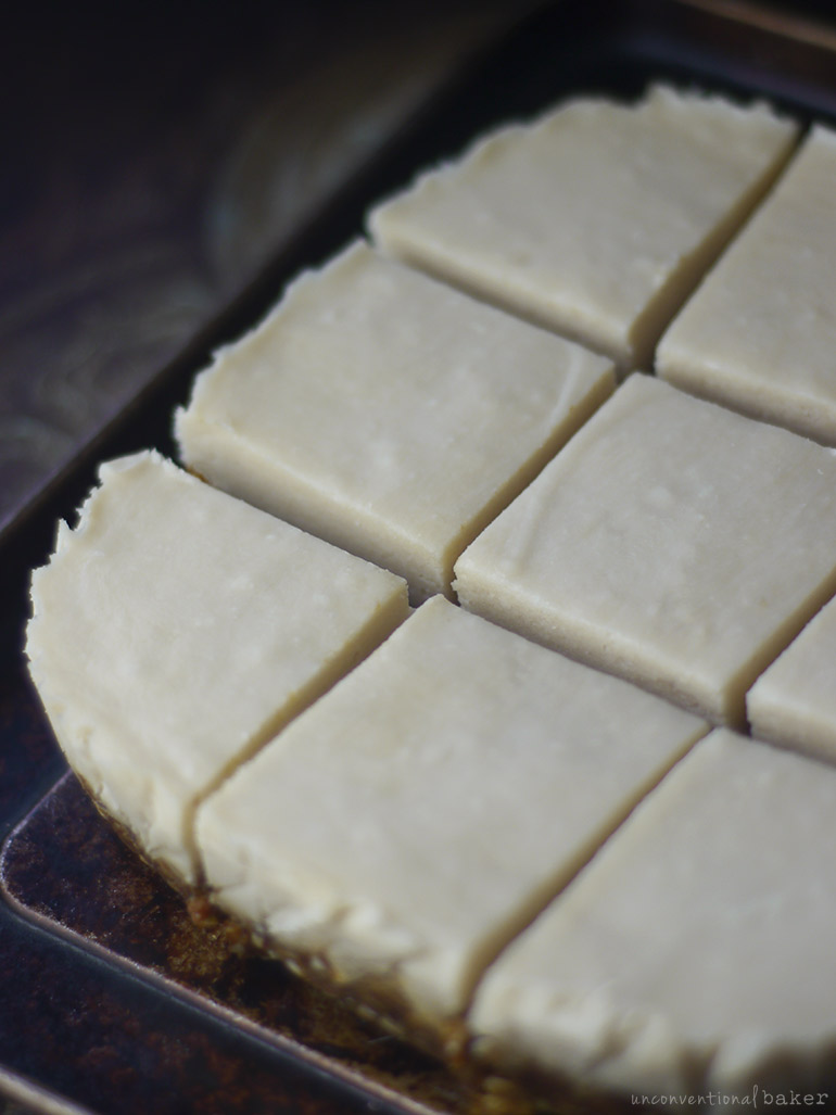 vegan coconut cream slices