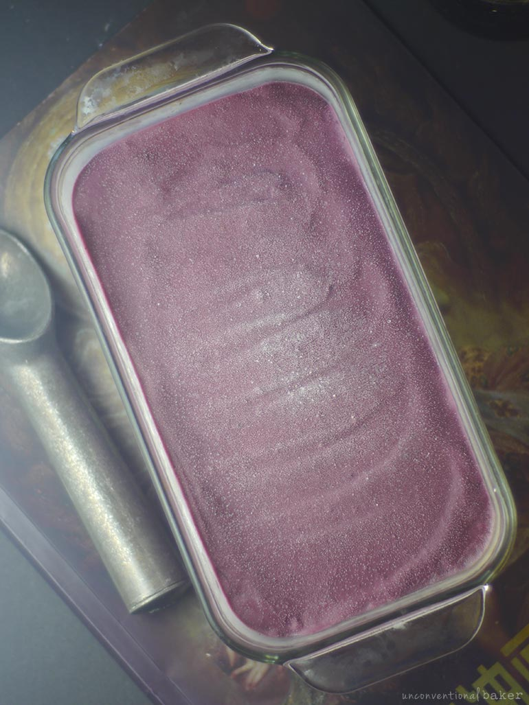 vegan purple sweet potato and tahini ice cream recipe