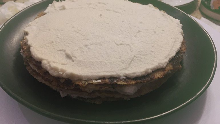 whipped cream layer for crepe cake