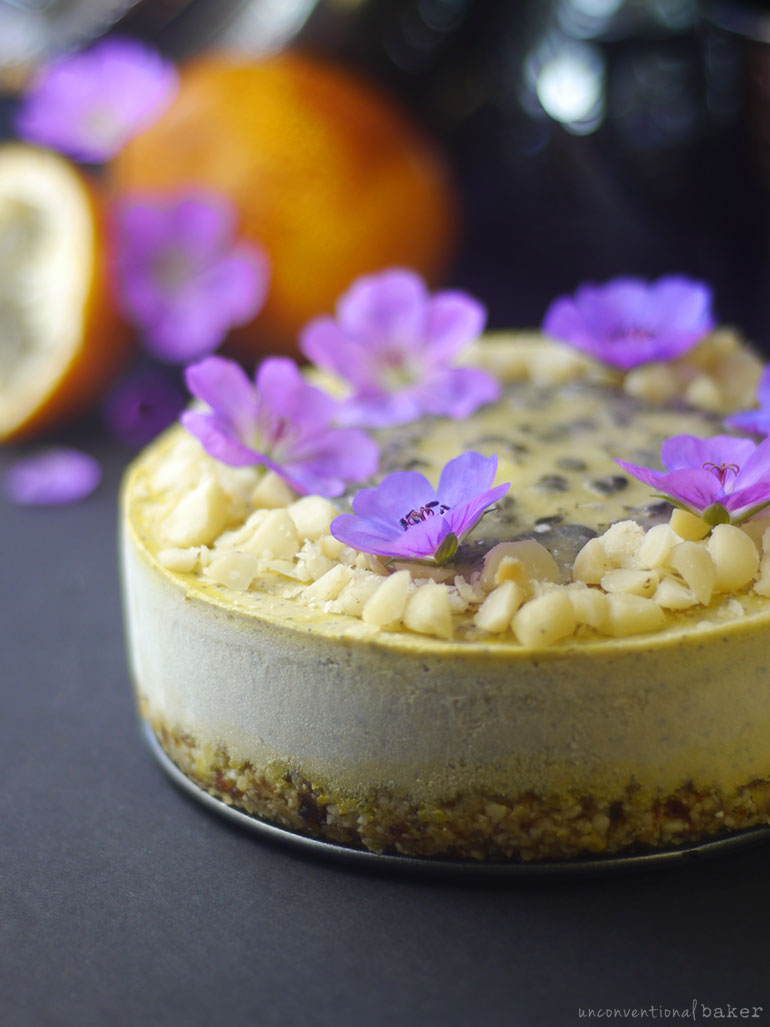 raw vegan granadilla cheesecake (gluten-free and paleo)
