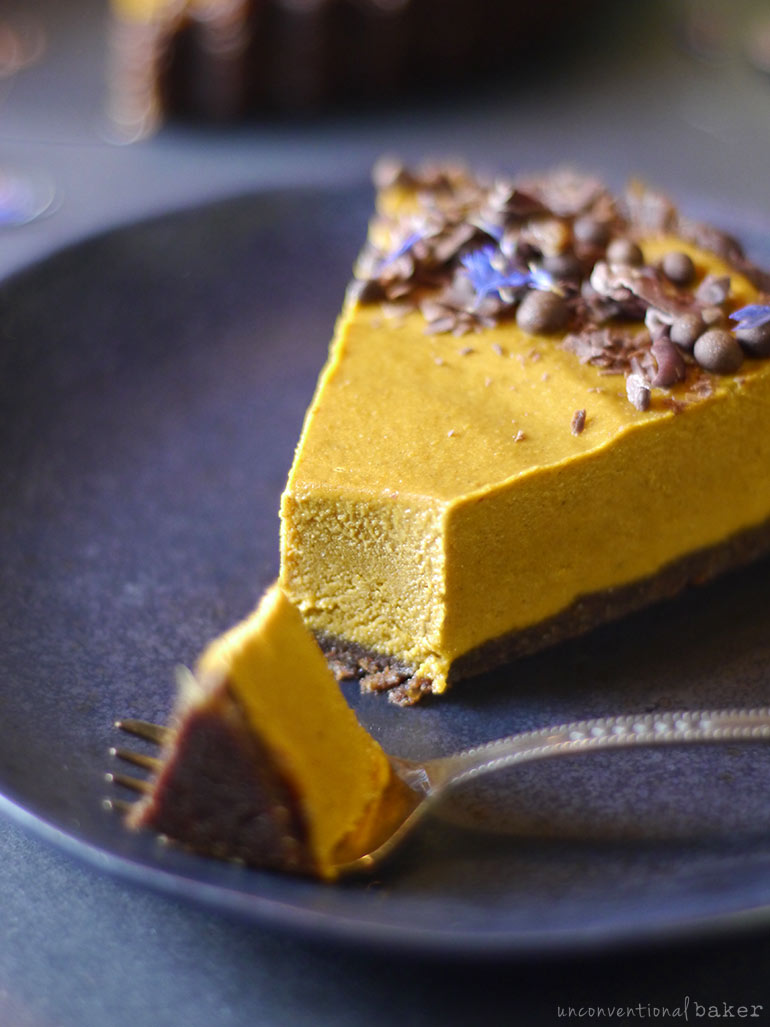 pb, chocolate, and pumpkin pie (vegan and gluten-free)