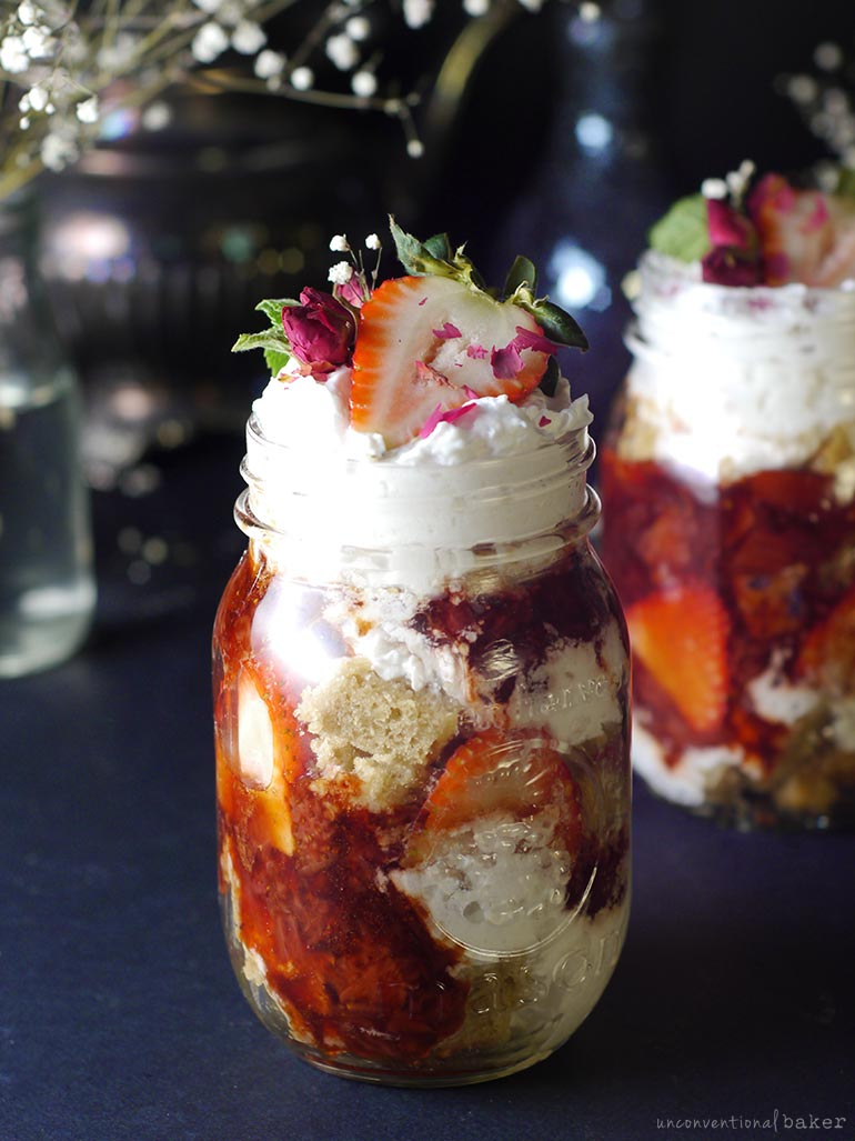 Easy Gluten-Free Vegan Balsamic Strawberry Trifle