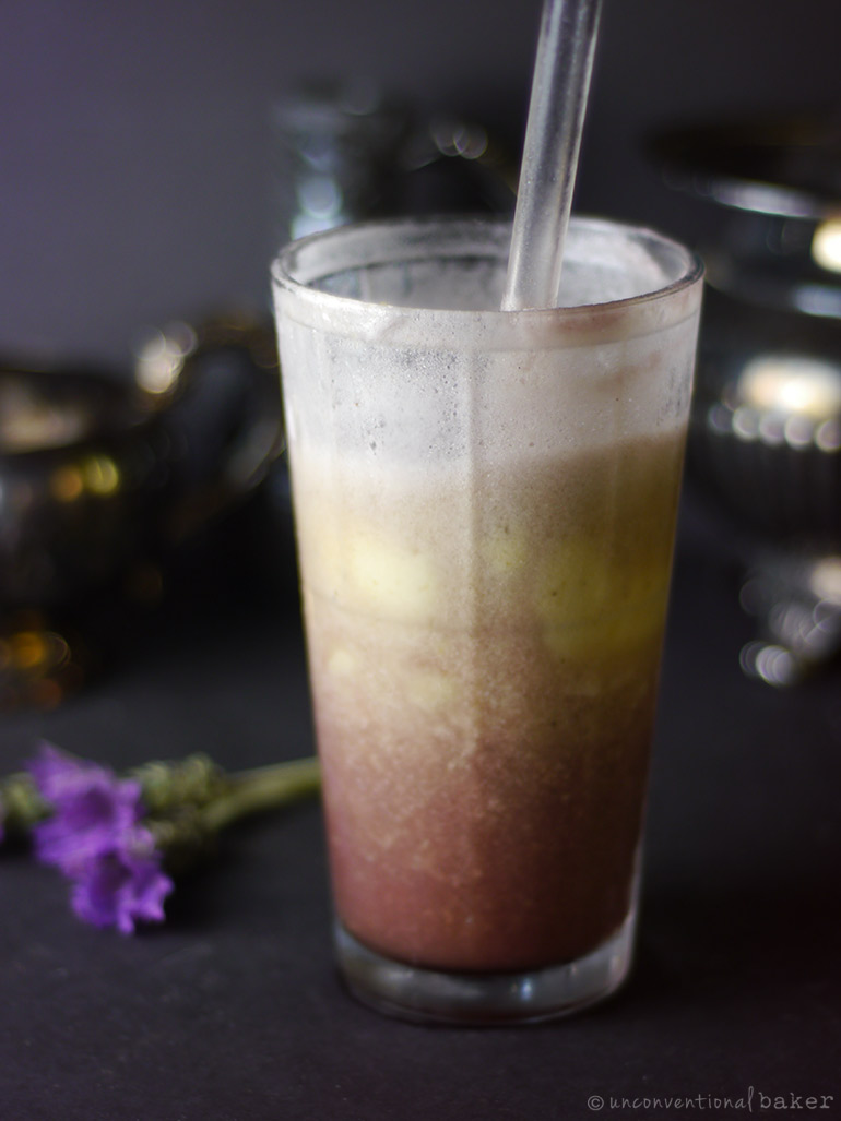 vegan purple cow float (refined sugar-free and dairy-free)