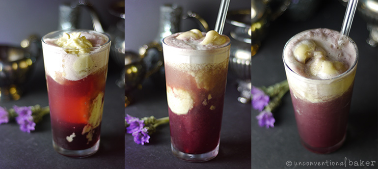 dairy-free purple cow ice cream float