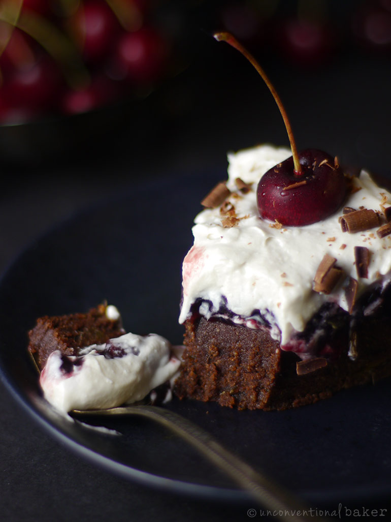 gluten-free vegan chocolate cherry cake