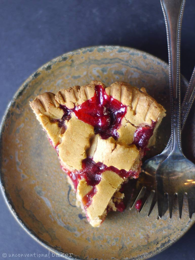 slice of red currant pie