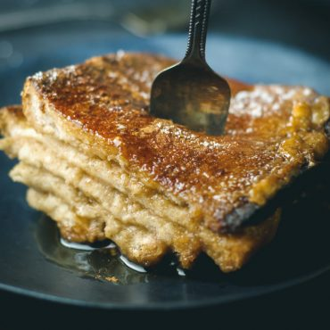 vegan baked french toast