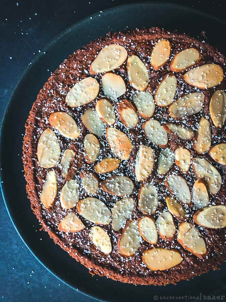 almond orange cake -- vegan, gluten-free, eggless